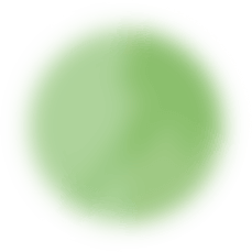 floating green planet